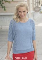 Sirdar Cotton DK Knitting Pattern - 7733 Top